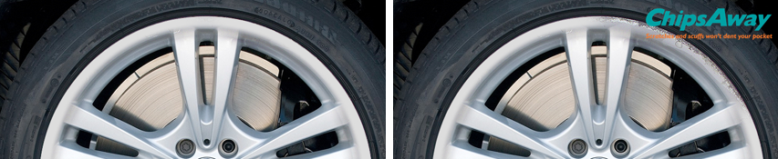 Alloy Wheel Repair - Before and After